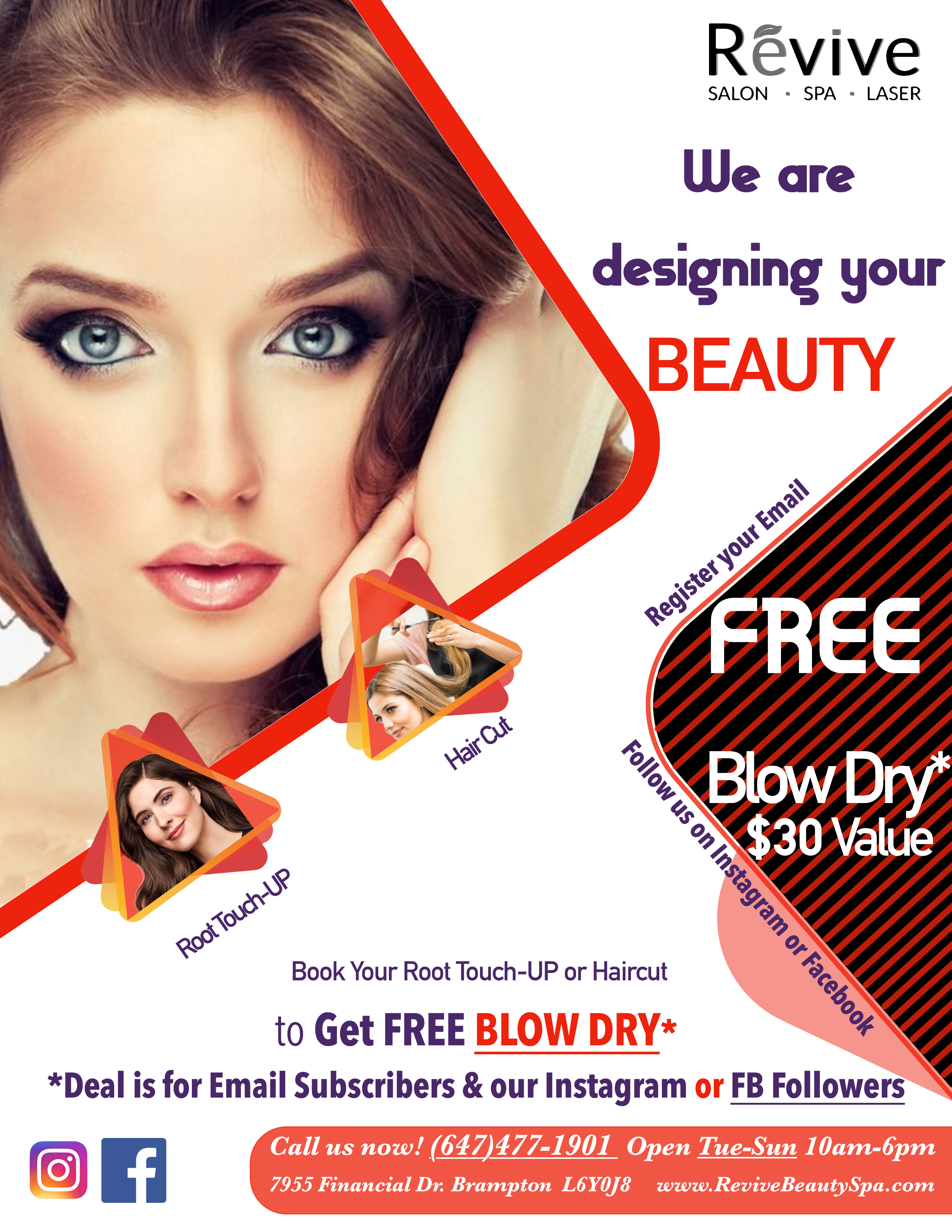 Free Blow Dry with Service